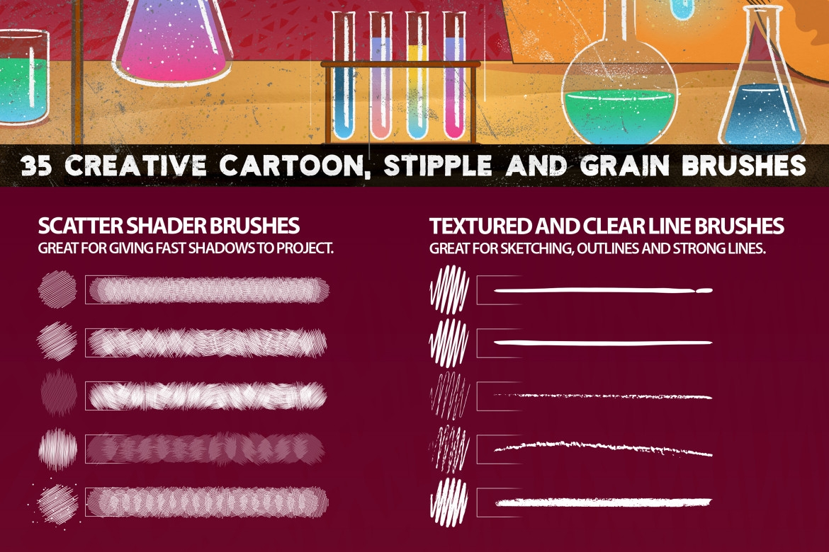 CHEMIST Illustrator Brushes