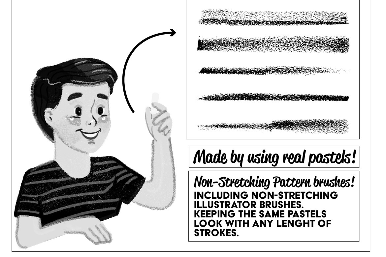 Pastels Illustrator Brush Kit