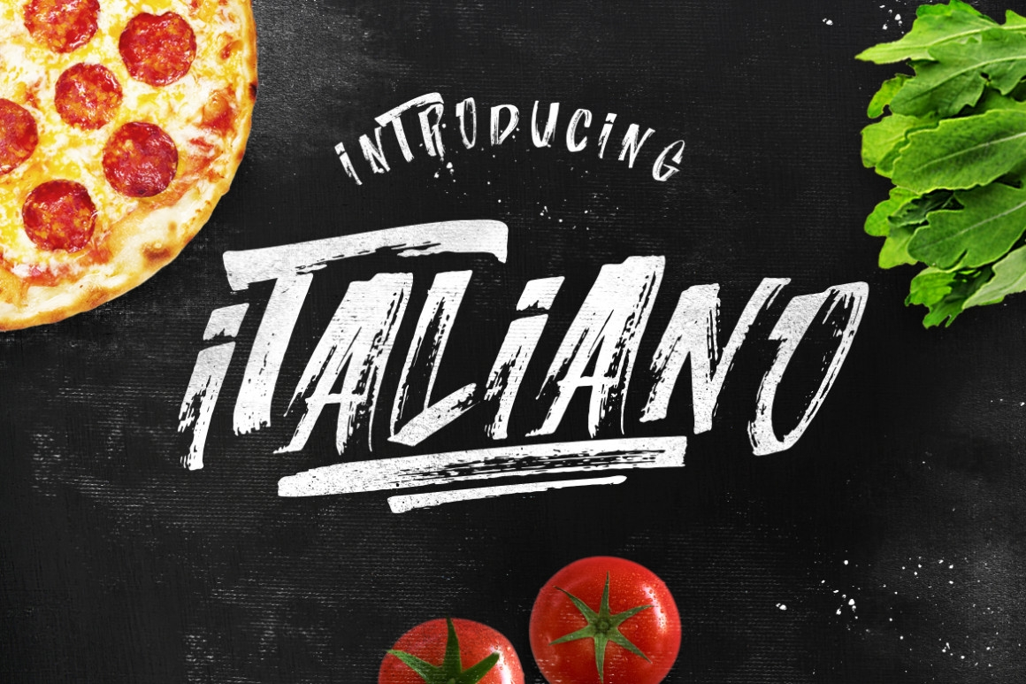 italiano brush font extras